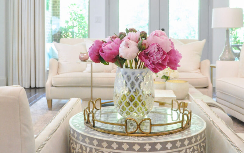 Summer home tour pink peonies