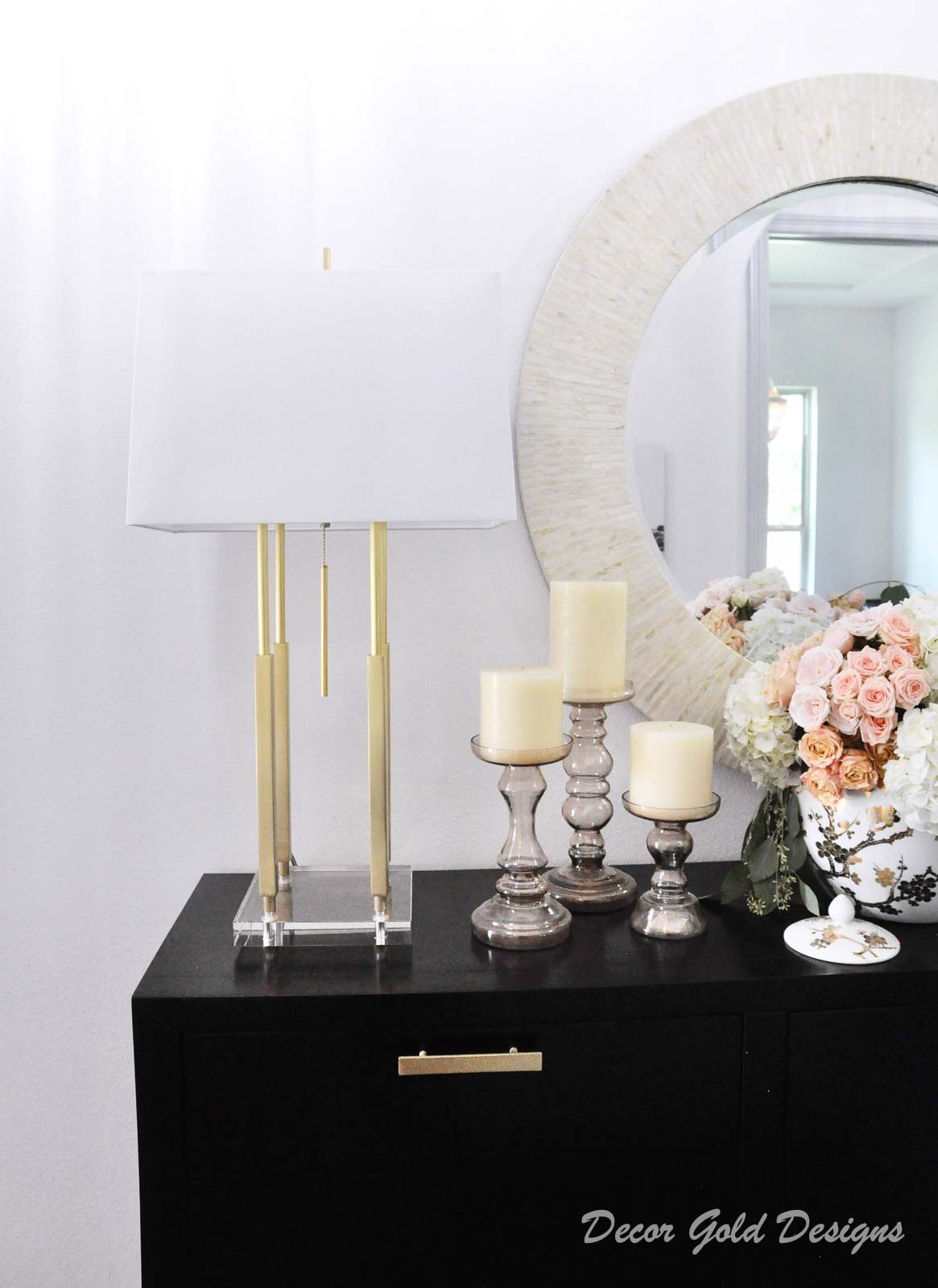 Entryway update elegant gold lamp