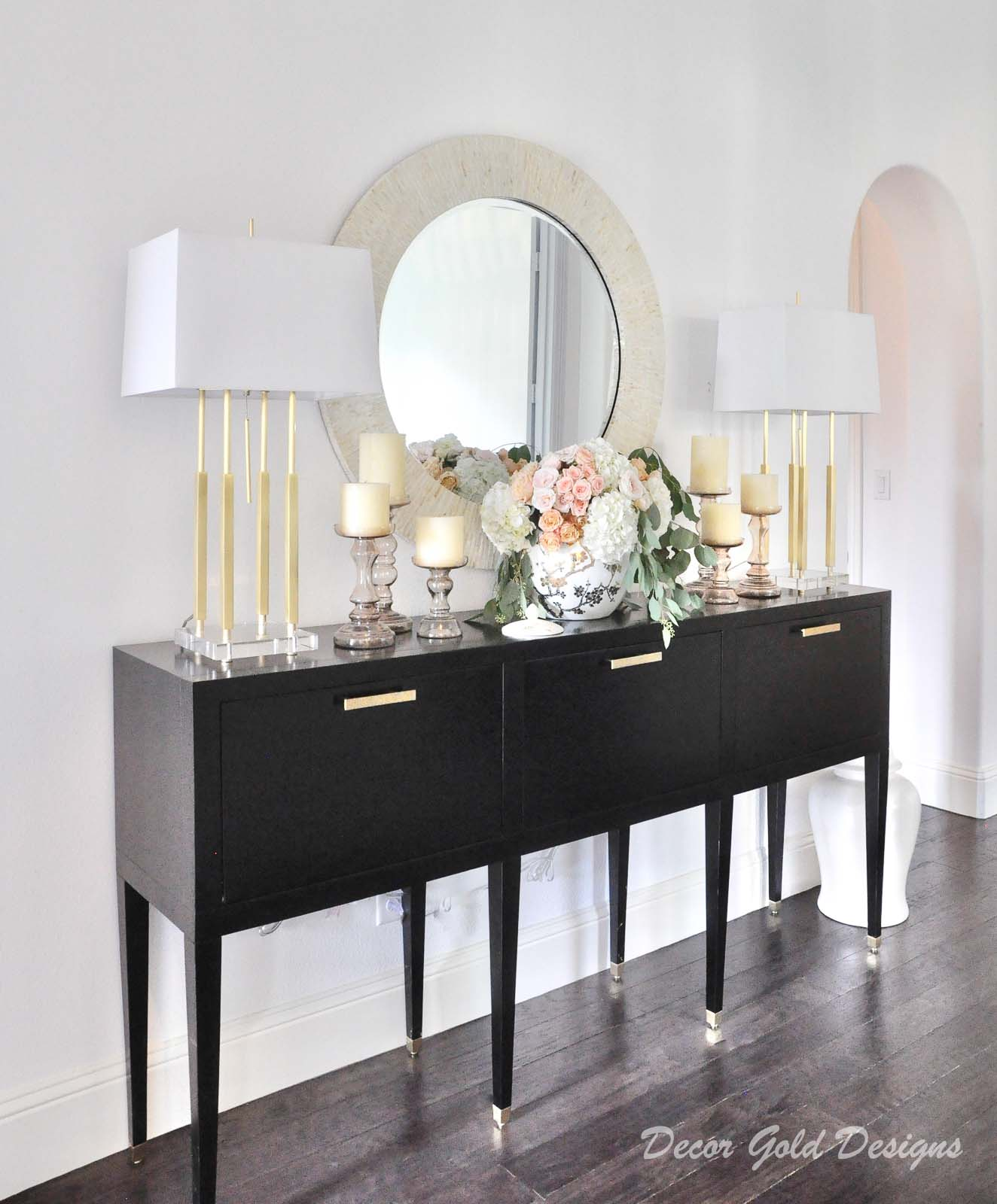 Entryway furniture mirror lamps