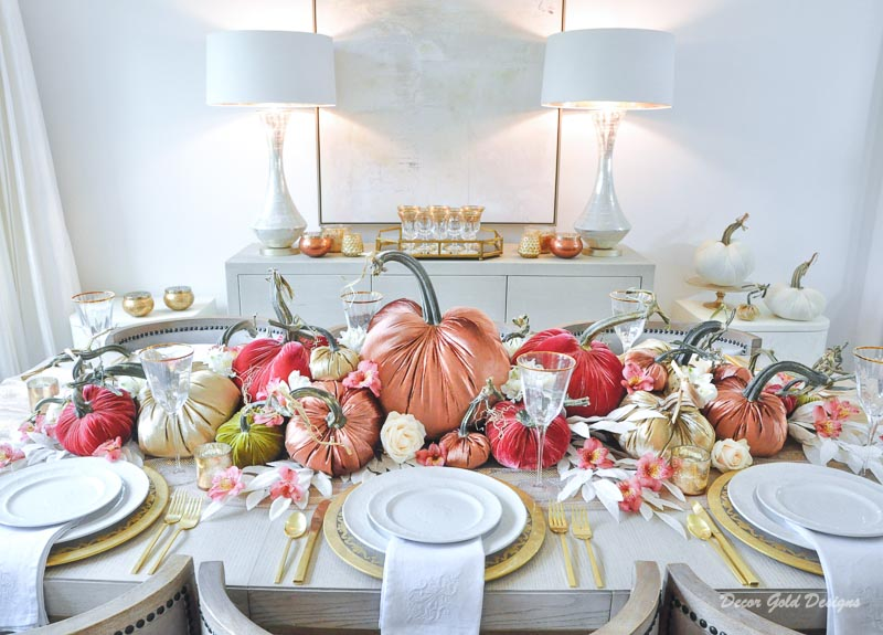 Elegant fall home tour dining table decor