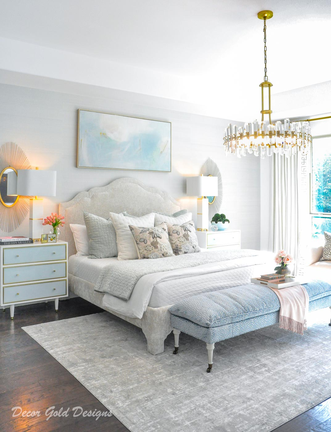 southern glam master bedroom reveal
