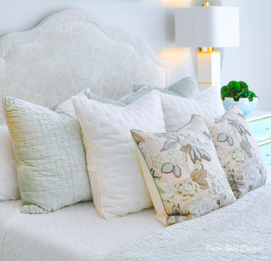 Southern glam master bedroom reveal gorgeous pastel bedding