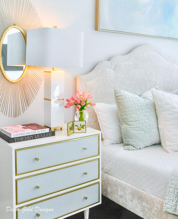 Southern glam master bedroom reveal lamp