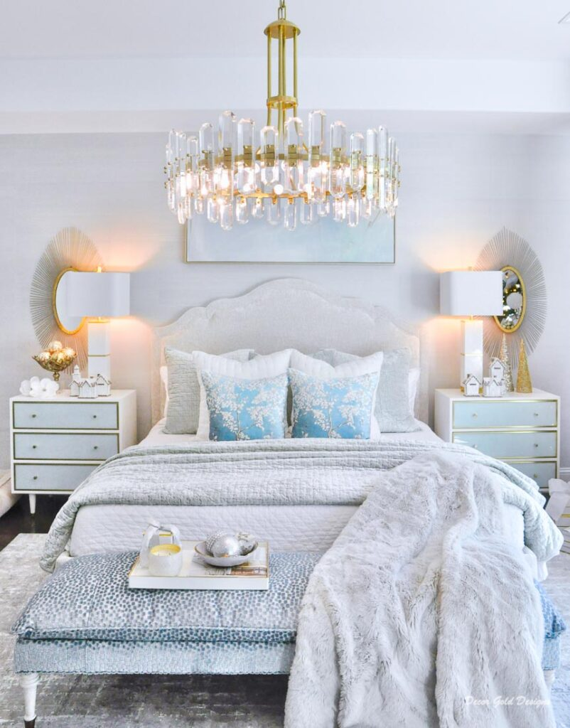 Christmas bedroom pastel colors