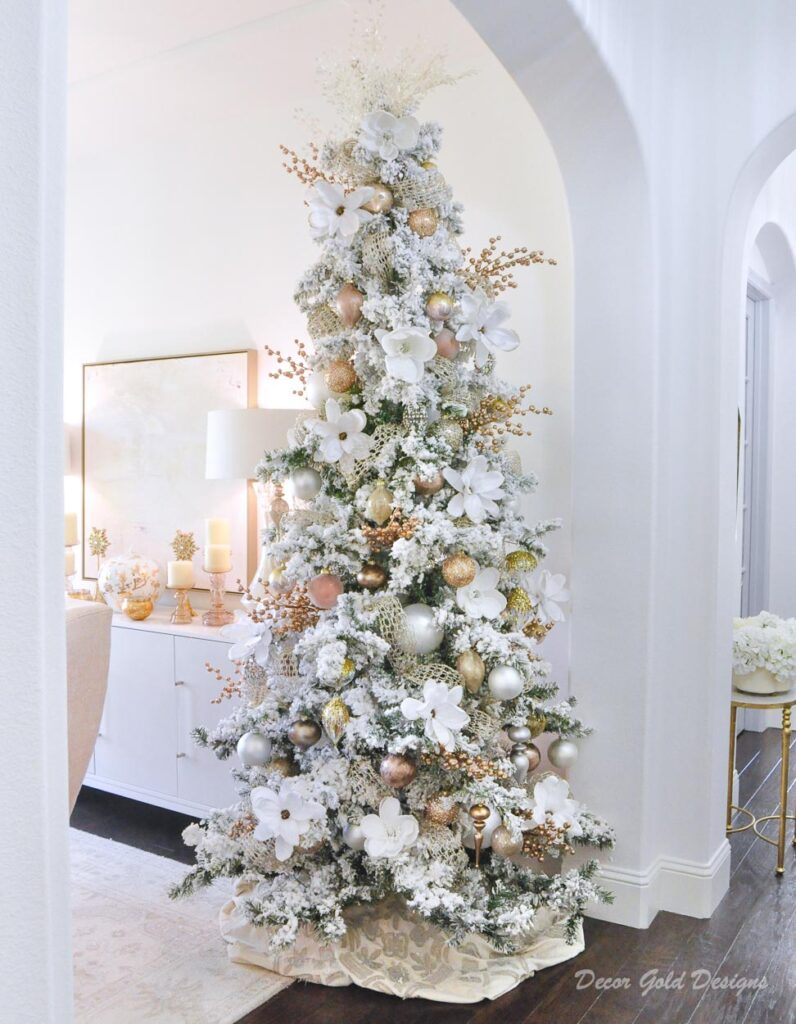 Beautifully decorated Christmas trees