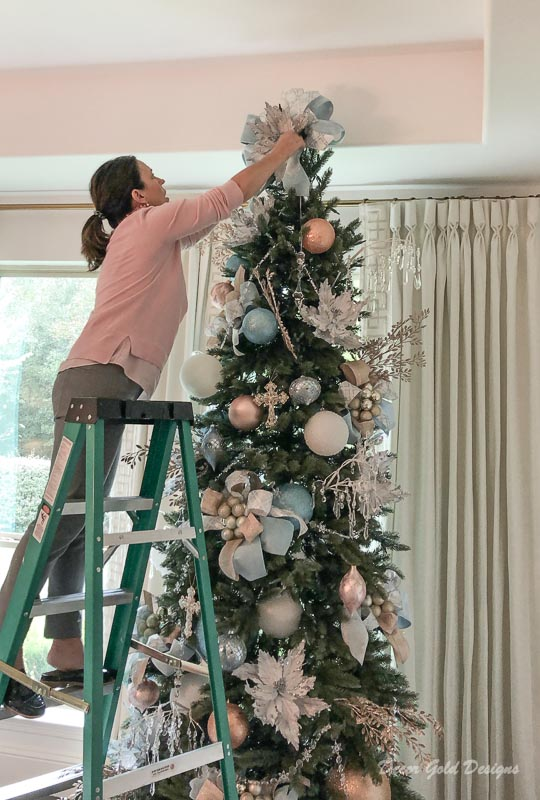 Jenny Tamplin interior designer creates beautiful Christmas trees