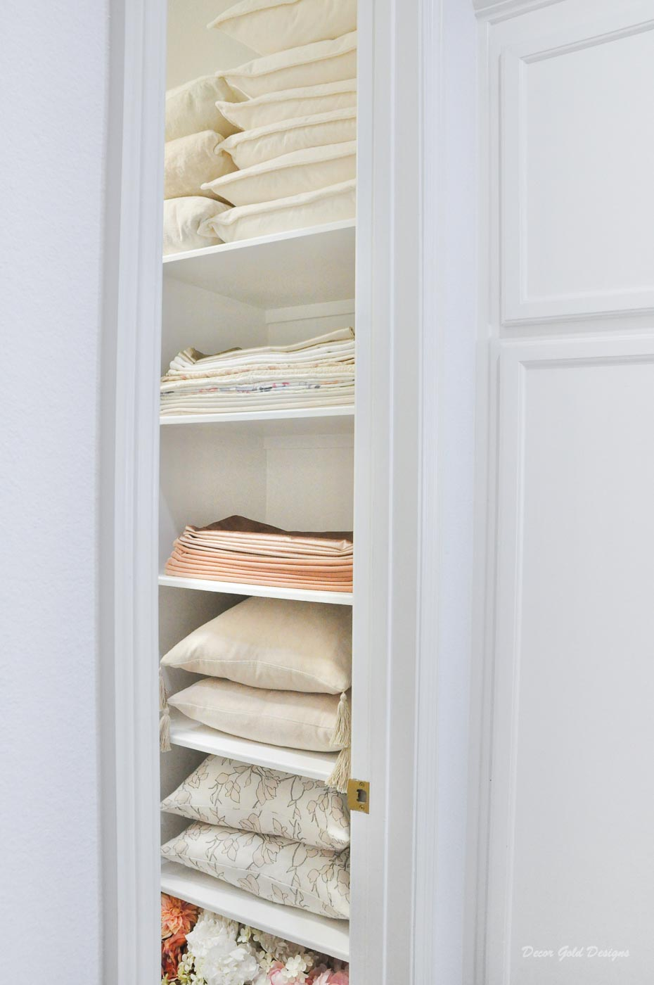 Entertaining closet organization