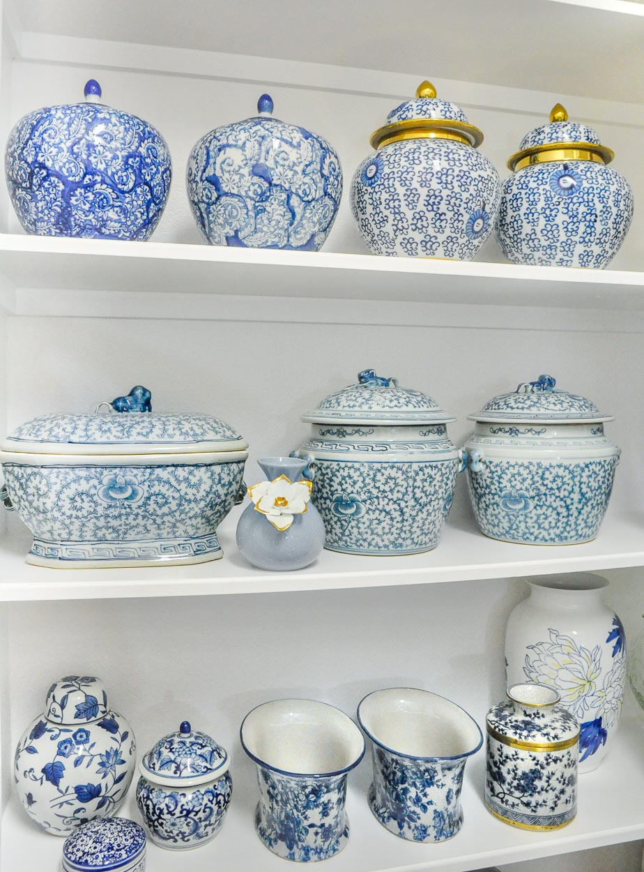 Entertaining closet ginger jars