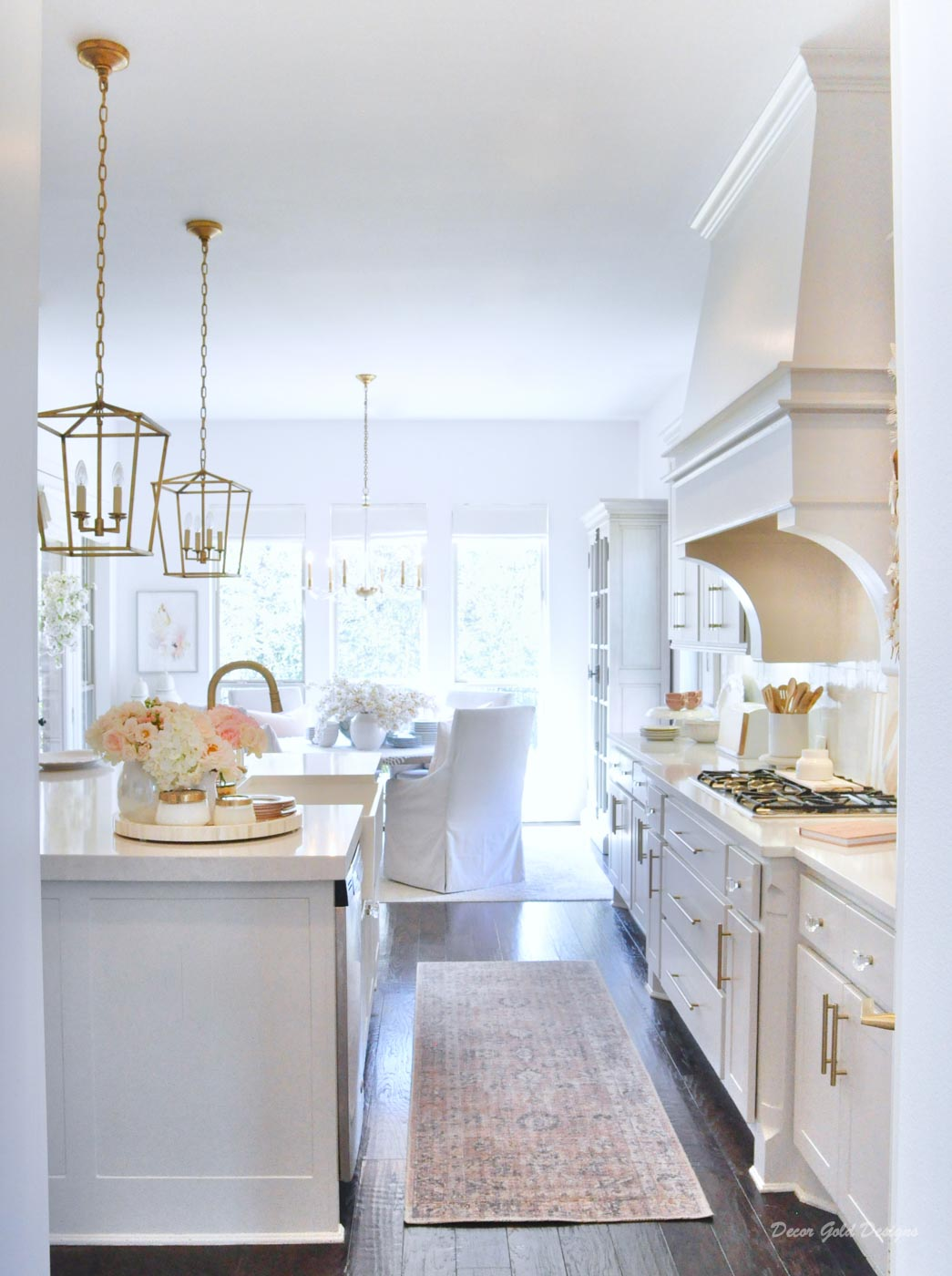 Spring home tour kitchen beautiful counters styled spring decor