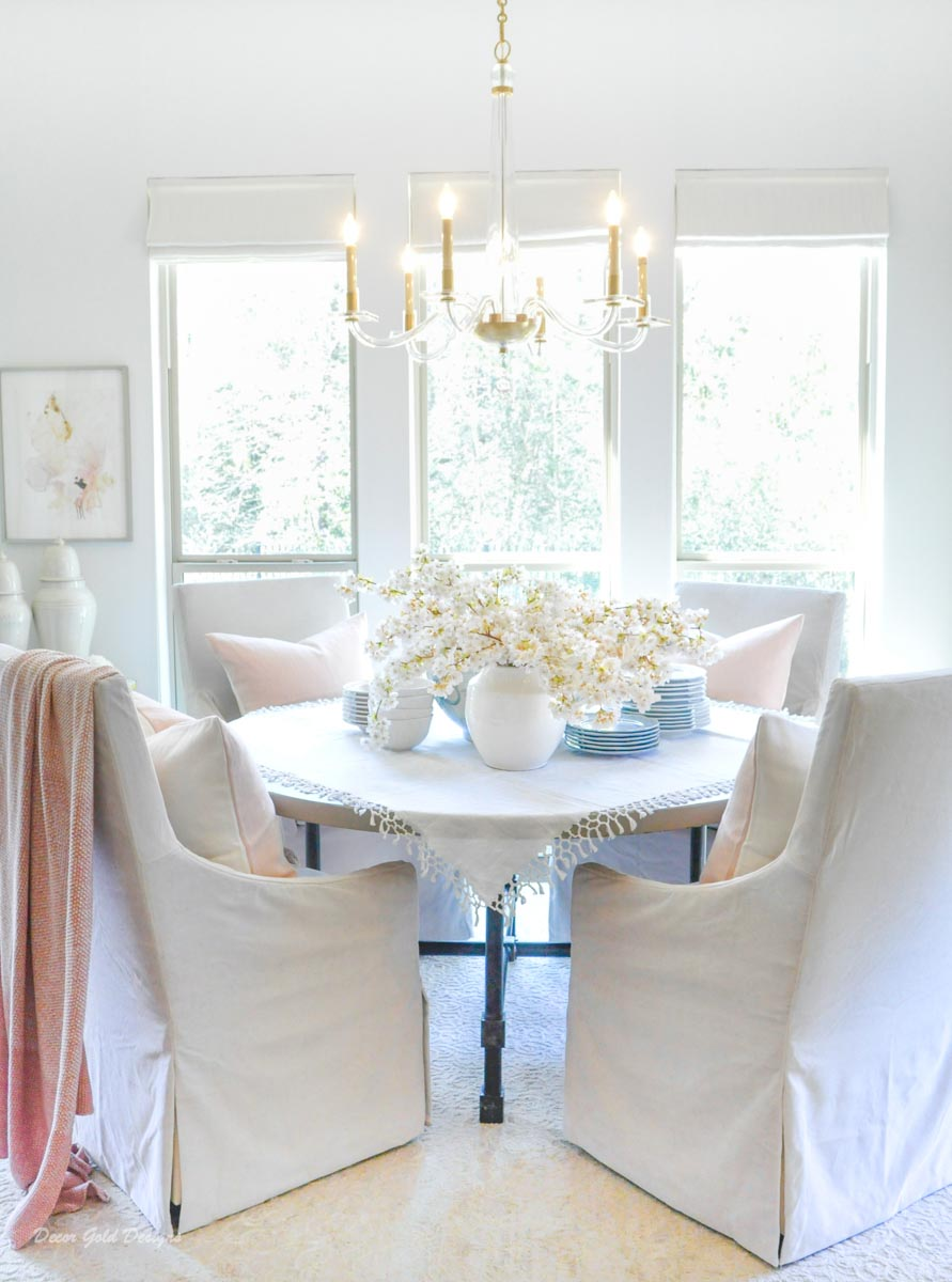 Spring home tour breakfast room