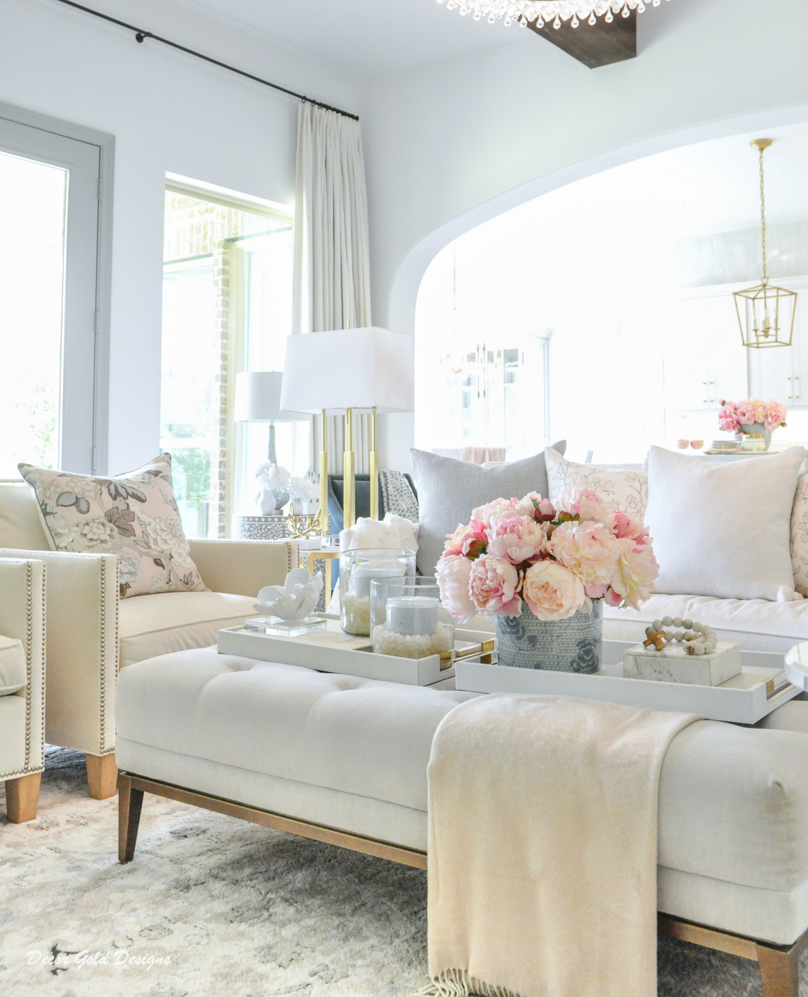Spring home tour living room beautiful decorative accessories