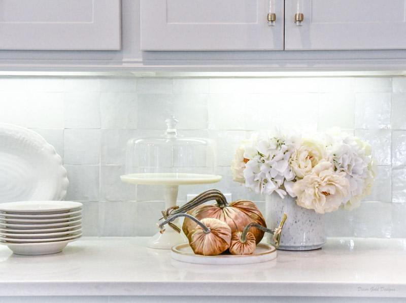 Fall home decor cake stand